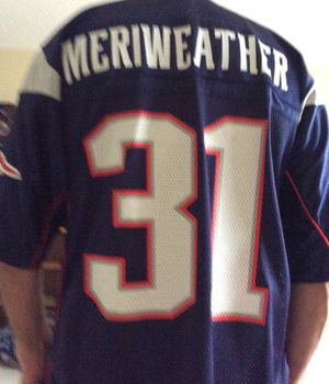 Reebok Patriots NFL Jersey, Large Size, # 31 Meriweather, Great Defensive Player for the PATS ! for Sale in Pinellas Park, FL