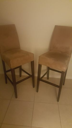 Two beige bar chairs for Sale in Pembroke Pines, FL