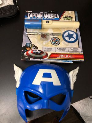 Captain America kit with mask - Halloween 🎃 Pal or Bag comes free with kids costume for Sale in Marietta, GA
