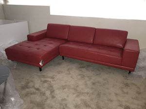 Luxurious Contemporary Sectional (Cherry Red) for Sale in Columbus, OH