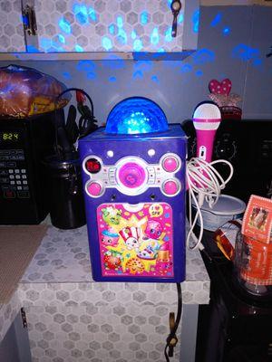 Shopkins Kareoke machine with strobe light for Sale in Haines City, FL