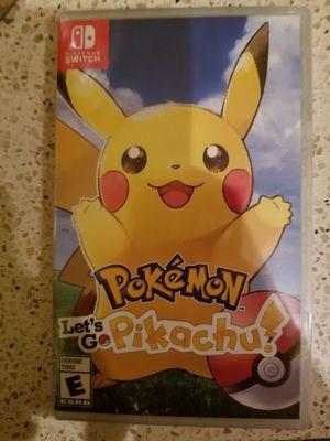 Nintendo Switch Pokemon let's go Pikachu for Sale in Everett, WA