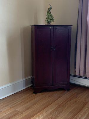 Storage Cherry Wood Cabinet for Sale in Trenton, NJ