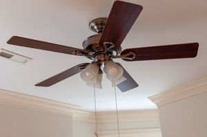 "52"" Indoor brushed-nickel ceiling fan and light fixture for Sale in Chicago, IL"