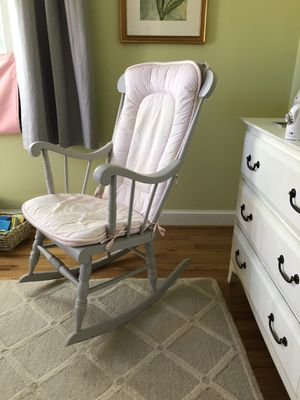 Grey Solid Wood Rocking Chair for Sale in Silver Spring, MD
