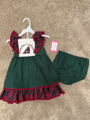 Baby girl ricrac and ruffles Christmas dress for Sale in Houston, TX