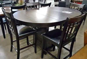 """New 5-PC Brown Counter Height Breakfast Kitchen Table Set """"Thanksgiving Sale"""" for Sale in Missouri City, TX"""