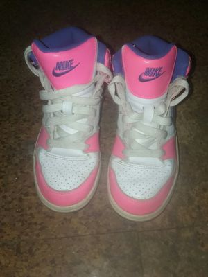 Nike's size 12c is white and hot pink ones and size 1year for all pink nikes gentaly worn for Sale in Columbus, OH