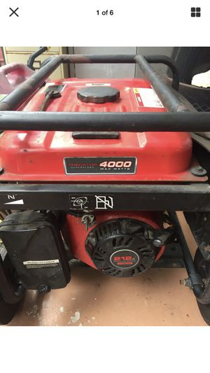 PREDATOR 4000 WATT GENERATOR,RUNS GREAT! FIRST $175 FIRM! for Sale in Lakeland, FL