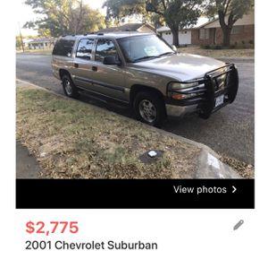 2001 Chevy Suburban for Sale in Grape Creek, TX