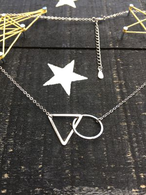 Triangle Circle Necklace for Sale in Warrington, PA