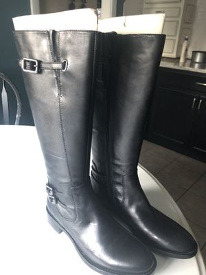 Ecco Black Leather tall riding boots. Size 7 for Sale in Buffalo, NY