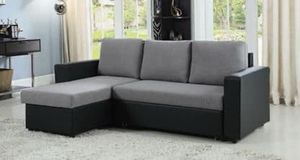 Brand New Grey/Black Sectional Sleeper for Sale in Tracy, CA