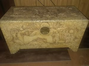 Asian Hope Chest World War II Hand Carved for Sale in Redwood City, CA