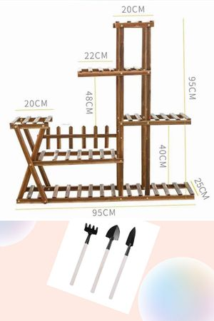 Wooden Plant Stand Flower Pot Shelf Organizer Bonsai Stand Indoor Outdoor Plant Stand for Garden Patio Balcony Living Room Bathroom Office for Sale in Rowland Heights, CA