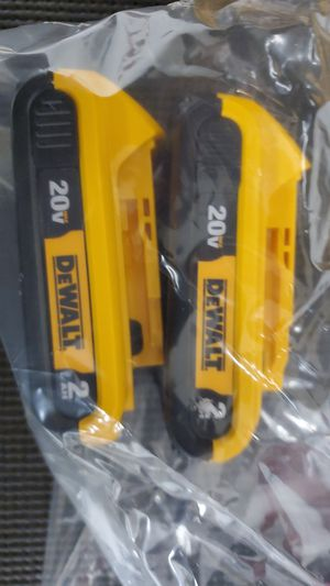 Dewalt x2 2AH Batteries for Sale in Houston, TX