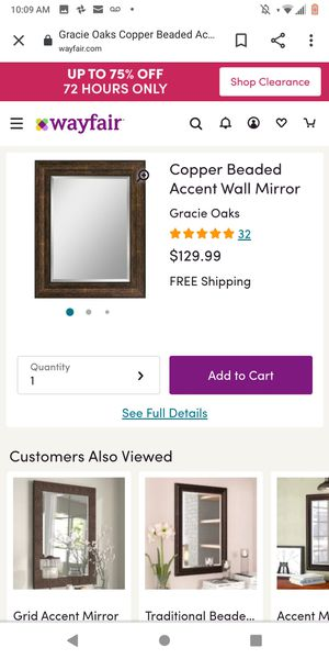 Decorative copper wall mirror for Sale in St. Louis, MO