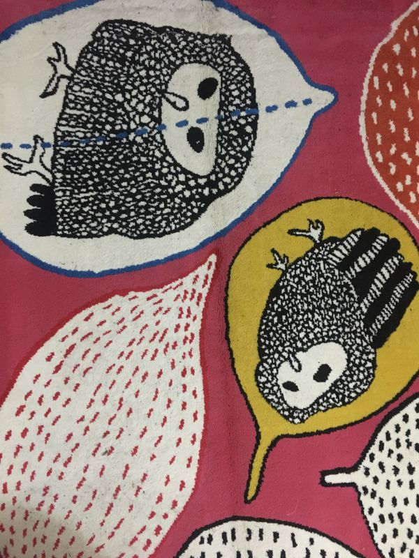 Owl Pattern Low Pile Rug