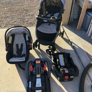 Graco Travel System - Car Seat, Stroller & 2 Bases for Sale in Mesa, AZ