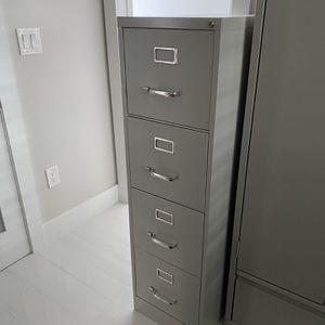 4 Drawer Light Gray Filing Cabinet for Sale in Fort Lauderdale, FL