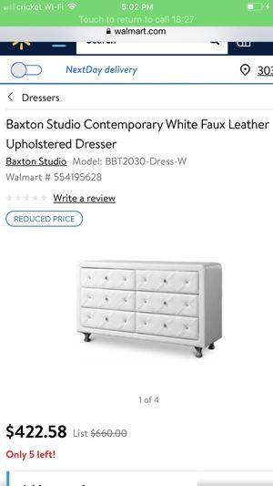 Braxton studio contemporary white studded dresser for Sale in Decatur, GA