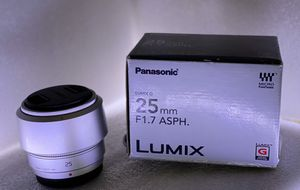 Panasonic Lumix G 25mm F1.7 ASPH lens for Sale in The Woodlands, TX