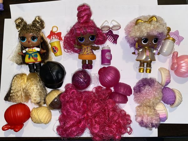 Lol hairvibes lot of 3 dolls