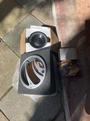 Pioneer speaker Kenwood Amplifier and a logic subwoofer for Sale in Uxbridge, MA