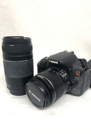 Canon Rebel t4i with charger and extra 75-300 lens for Sale in Dallas, TX