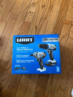 Hart 1/2 drill and impact driver kit for Sale in Chicago, IL