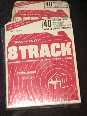 8-Track tape New Sealed Realistic Blank 40 minuets for Sale in Dallas, TX