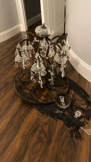 Lovely chandelier, Crystal lights, works perfectly for Sale in Las Vegas, NV