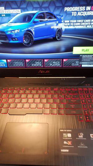 Asus tuf gaming 17.3 screen,nvidia 1060 card,16gb memory,512ssdi for Sale in Evanston, IL