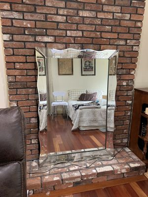 Antique Scalloped Edged Sofa Mirror for Sale in Dracut, MA
