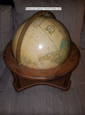 Distressed Antique World Globe $25 for Sale in Dresden, OH