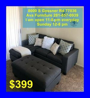 sectional sofa + ottoman $399 for Sale in Houston, TX