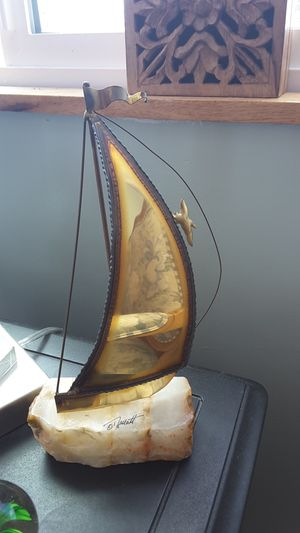Brass and rock sailboat decor for Sale in American Canyon, CA