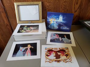 Cinderella Lithograph Prints - Disney Limited Edition with Special Frames for Sale in Tracy, CA