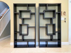 Set of 2 Brown Geometric Bookshelves! for Sale in Southwest Ranches, FL