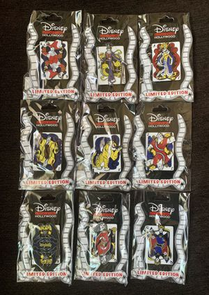DISNEY STUDIO STORE VILLAINS LIMITED EDITION 400 TRADING CARD PINS for Sale in Los Angeles, CA