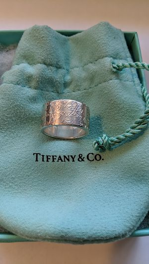 Tiffany & Co Wide Band Notes Ring Size 6 for Sale in McKeesport, PA