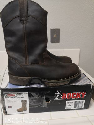 Brand new rocky soft toe work boots size 9.5 w for Sale in Riverside, CA