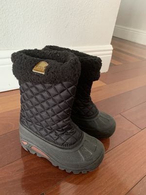 Sorel girls black snow boots! Size 9 toddler for Sale in Miami, FL