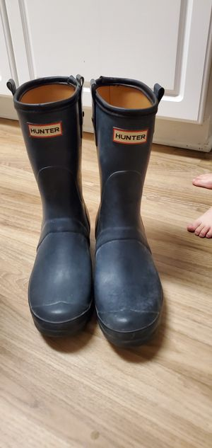 Hunter Rain Boot Mens Size 10 Worn once for Sale in San Diego, CA