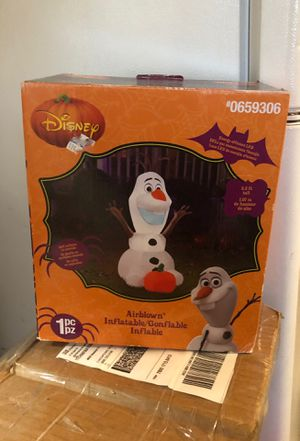 New Disney Olaf inflatable Halloween decoration for Sale in Chesapeake, VA