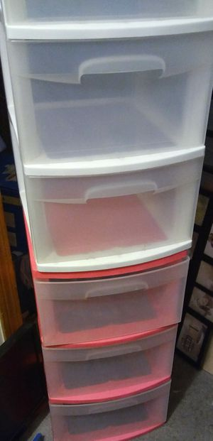 Two 3 Plastic Drawer Organizers for Sale in Providence, RI
