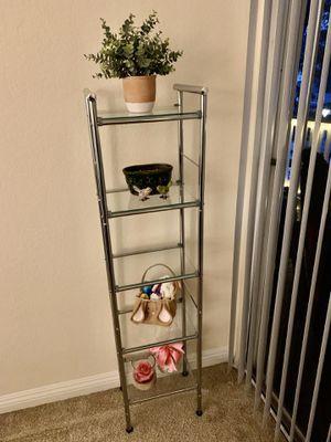 5 tier glass shelf like new for Sale in Irvine, CA
