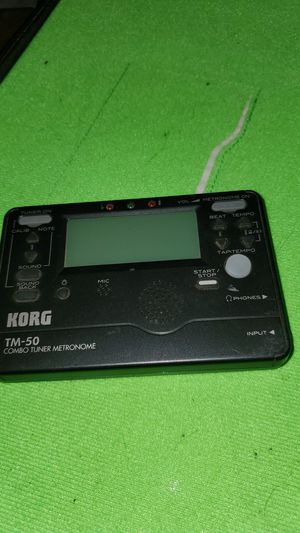 Korg tm-50 combo tuner metronome used great condition $15 for Sale in Clovis, CA