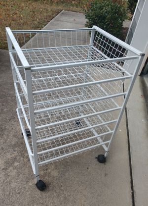 Metal Rolling Cart with drawers. for Sale in Raleigh, NC