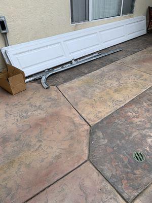 Garage door including hardware good condition for Sale in Chula Vista, CA